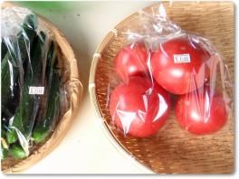 直売所のトマト