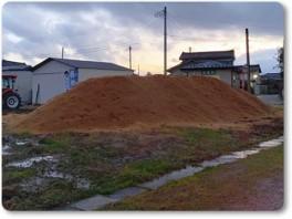 ブルーシートなしの堆肥