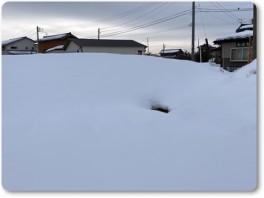 雪解けで窓みたい。